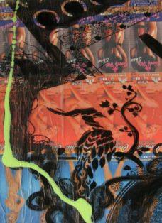 grün auf hoffnung  I - collage - mixed media auf leinwand - 50 x 50 cm - 2007