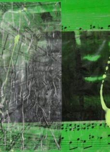 grün auf hoffnung VII - collage - mixed media auf leinwand - 50 x 50 cm - 2007