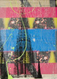 grün auf hoffnung  XII - collage - mixed media auf leinwand - 50 x 50 cm - 2007