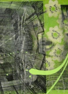 grün auf hoffnung III - collage - mixed media auf leinwand - 50 x 50 cm - 2007