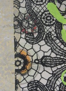 grün auf hoffnung X - collage - mixed media auf leinwand - 50 x 50 cm - 2007
