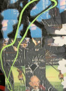 grün auf hoffnung V - collage - mixed media auf leinwand - 50 x 50 cm - 2007