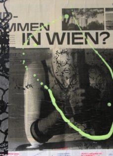 grün auf hoffnung XI - collage - mixed media auf leinwand - 50 x 50 cm - 2007
