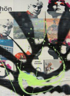 grün auf hoffnung  II - collage - mixed media auf leinwand - 50 x 50 cm - 2007