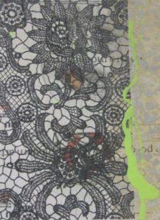 grün auf hoffnung  IV - collage - mixed media auf leinwand - 50 x 50 cm - 2007
