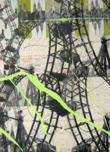 wien II - collage - mixed media auf leinwand - 100 x 100 cm - 2007