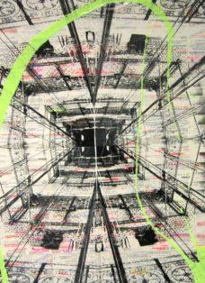 wien III - collage - mixed media auf leinwand - 100 x 100 cm - 2007