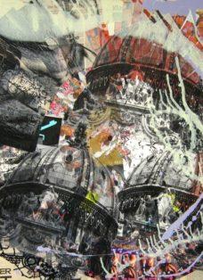 wien IV - collage - mixed media auf leinwand - 100 x 100 cm - 2007