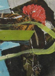 sehnsucht I - collage auf leinwand - 20 x 20 cm - 2008