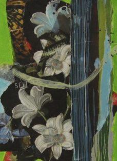 sehnsucht II - collage auf leinwand - 20 x 20 cm - 2008