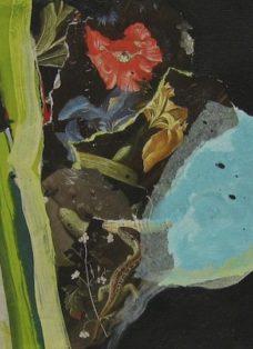 sehnsucht III - collage auf leinwand - 20 x 20 cm - 2008