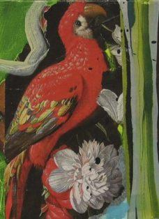 sehnsucht IV - collage auf leinwand - 20 x 20 cm - 2008