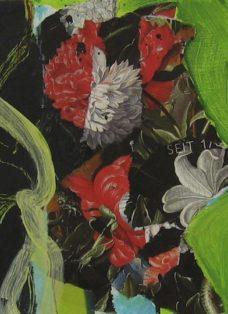 sehnsucht V - collage auf leinwand - 20 x 20 cm - 2008