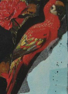sehnsucht VI - collage auf leinwand - 20 x 20 cm - 2008
