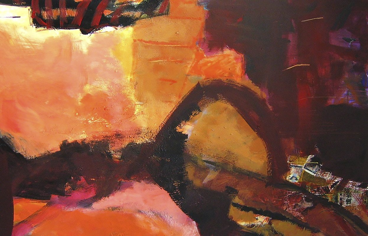 guanyin - collage - acryl auf leinwand - 90 x 140 cm - 2005